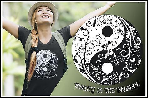 Ruftup Female Cut Tshirt 001 Yin & Yang Beauty In The Balance Ruftup Design Website.jpg