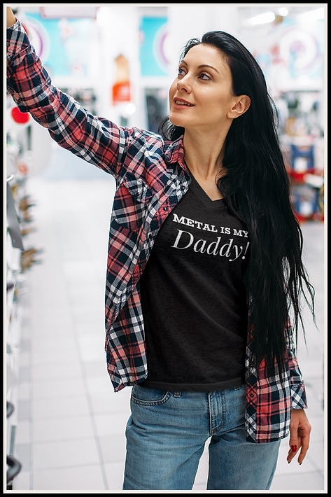 Metal Is My Daddy Sexy woman in Tee web