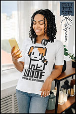 Woof The Adorable Cute Puppy Dog Apparel design by Ruftup