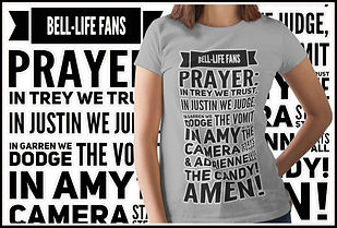 The Bell Life Fans Prayer Fun Humour Design by Ruftup Designs