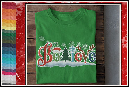 Christmas Festive Believe Design by Ruftup.commaller- Christmas-Believe_Snowdri