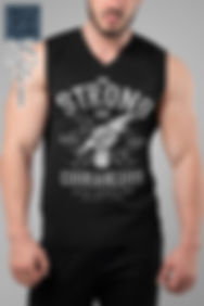 Be-Strong-and-Courageous-tank-top-mockup-of-a-bearded-man-at-home