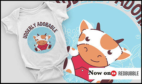 Udderly Adorable Cute Cow Vaca Kawaii Ruftup Design