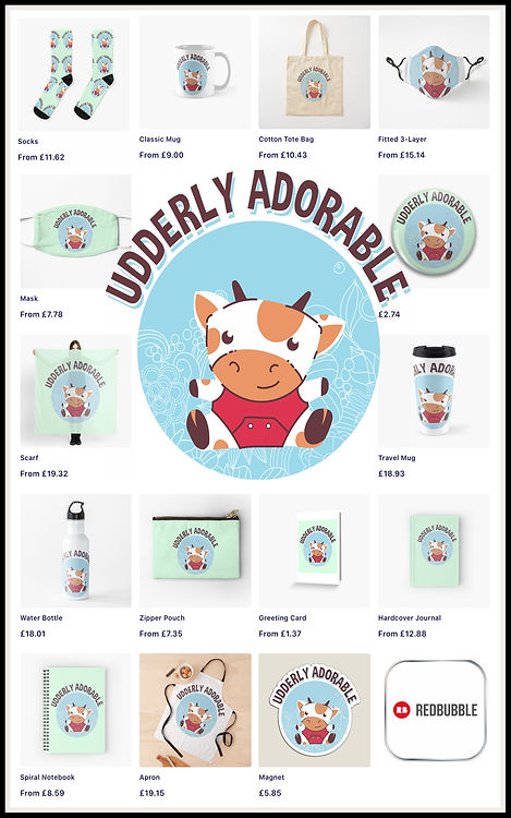 Ruftup Udderly Adorable Vacas Kawaii Redbubble Promotion