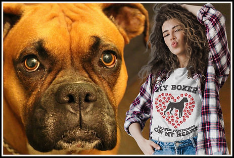 My Boxer Leaves Pawprints On My Heart by Ruftup Designs
