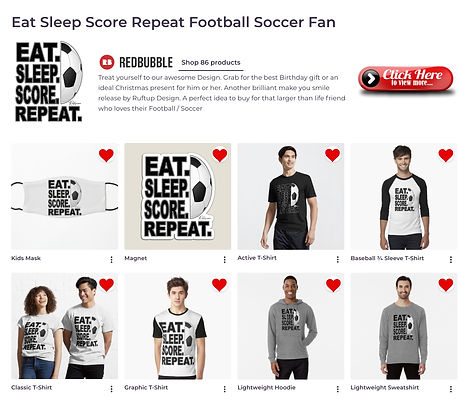 Website Banner Promoting Eat Sleep Repeat Score Repeat Football Fan Design
