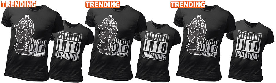 Trending Straight Outta Lockdown, Isolation, Quarantine apparel Gas Mask designs by Ruftup Clothing