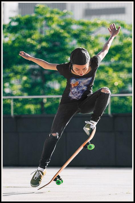 Redheaded Skater Girl Ollie Ruftup Desig