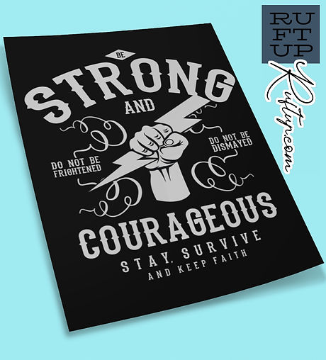 Be-Strong-and-Courageous-mockup-of-an-unfolded-poster-on-a-solid-color-surface