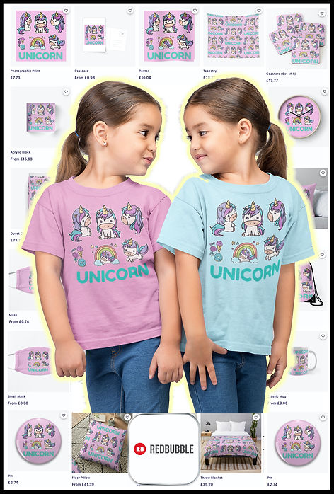 M6-Unicorns Rainbows Icecream