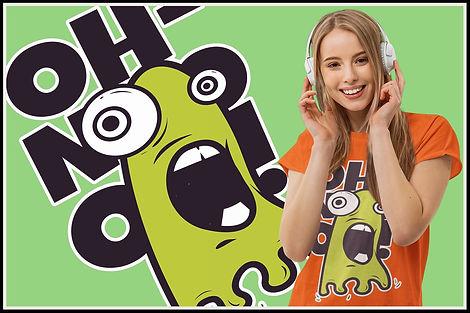 Oh Nooo Kawaii Green Goo Monster Marvin
