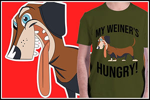 DASHCHUND MY WEINERS HUNGRY Ruftup Desig