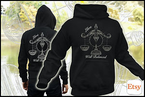 Libra - Well Balanced - Hoodie Design by Ruftup Designs