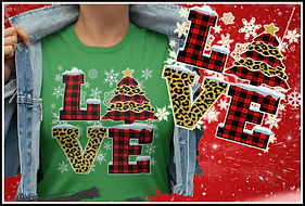 Leopard & Plaid Christmas Love from ruftup.com