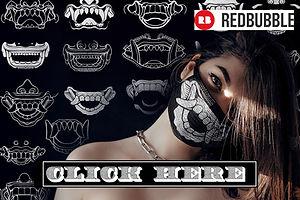 Bali Face Masks Japanese Samuria Warrior