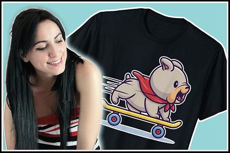 Web Bulldog Skateboarding Cute Kawaii Do