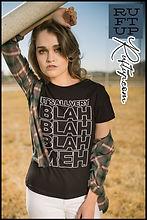 Its All Very Blah Blah Blah Meh Tshirt Design