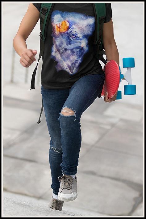 Redheaded Skater Girl Tshirt Ruftup Desi