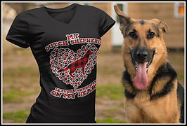 My Dutch Shepherd Leaves Pawprints on my Heart (Plaid) By Ruftup.com