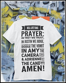The Bell Lifes Fans Prayer Tshirt Design by Ruftup.com