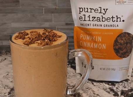 The Perfect Healthy Pumpkin Spice Fall Smoothie!