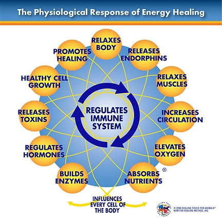 the physiological response of energy healing