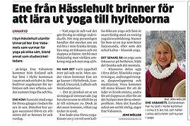 Artikel om Yoga Du & Nu i Hallandsposten