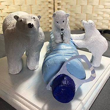 My polar bear sculpture finally finished