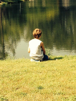 Relaxing by the pond