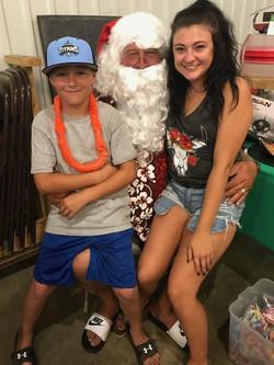 Santa visits in July, at Broadview