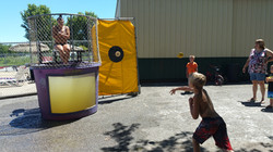 A little dunk tank action