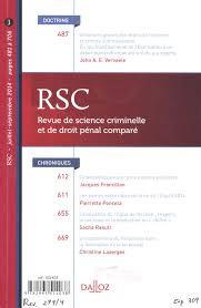 Revue de science criminelle et de droit