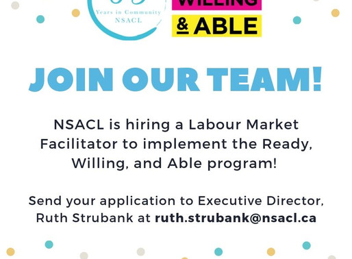 NSACL Employment Opportunity: Labour Market Facilitator