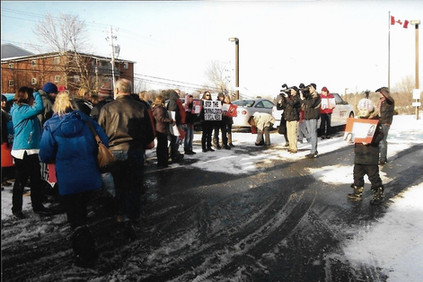 Protest at RCMP
