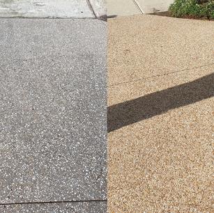 Decorative Driveway Clean Comparison