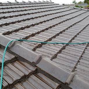 Tiled roof after clean