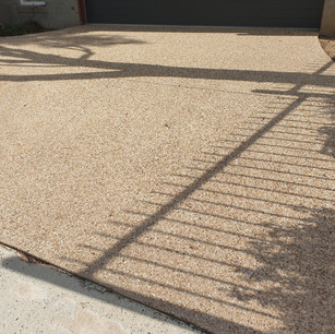 Pressure Washed Concrete with Exposed Aggregate