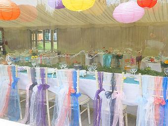 Candlelit festival wedding venue