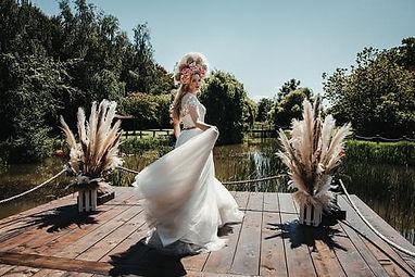 Boho wedding at Crown hall Farm