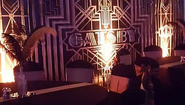 1920s themed wedding - art deco backdrop