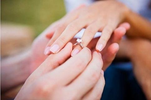 couple at engagement party venue