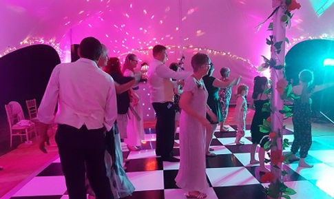 disco evening at anniversary venue