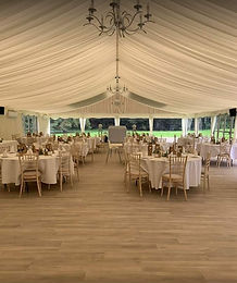Our spacious luxury marquee will accommodate a large wedding party
