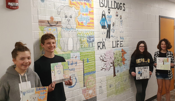 Murals by BMS students now on display on Main Street & BMS hallways