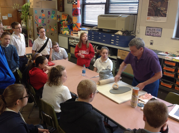Clay artist visits St. Louis