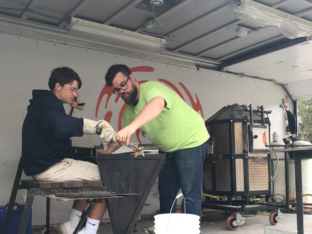 Neusole Glassworks visits Oldenburg Academy
