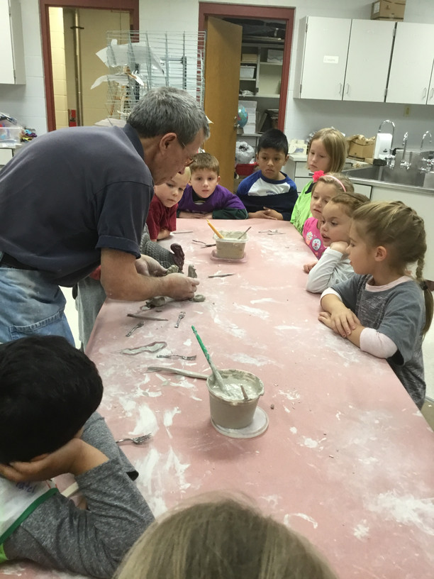 Clay Artist visits Primary School