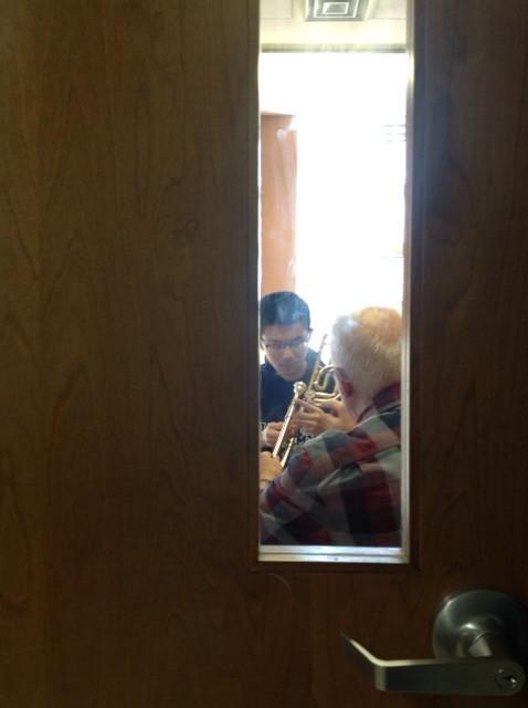 Bill Tipkemper visits Oldenburg Academy