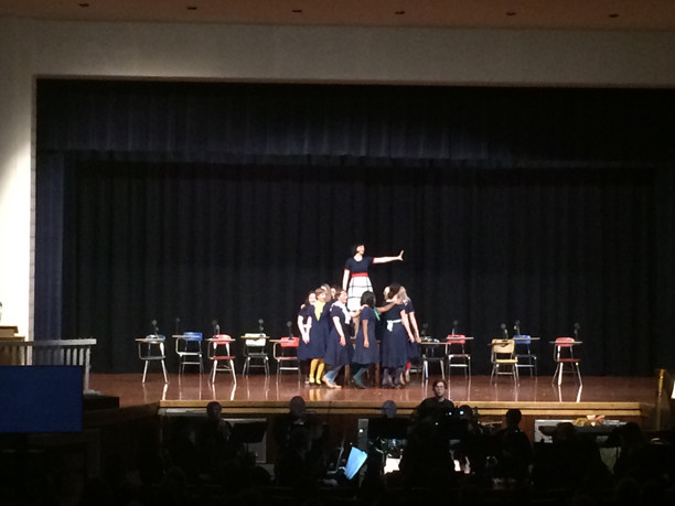 Amy Borns, Musical Dance Support visits Oldenburg Academy