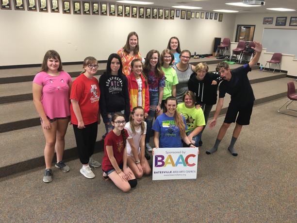 Choreographer Danyel Mann visits Batesville Middle School Choir